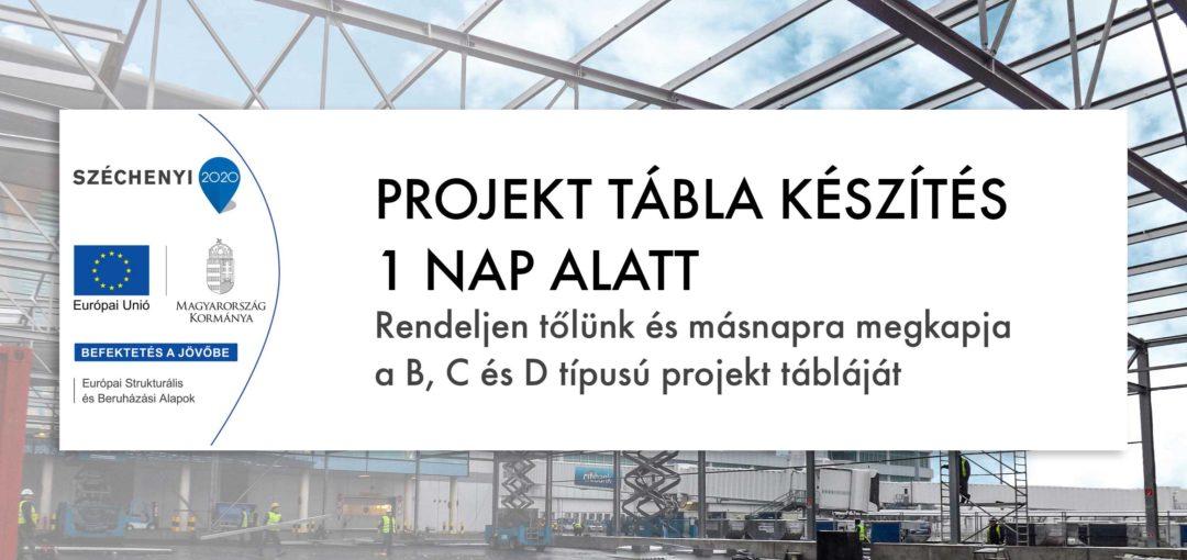 projekttábla, B típusú tábla, c típusú tábla